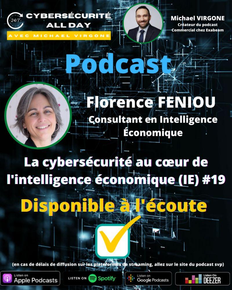 podcast par florence feniou consultant en intelligence économique et son entreprise bee's eye